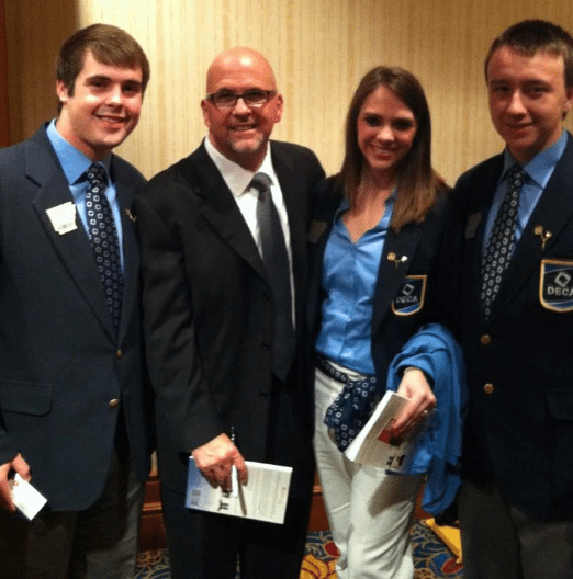 Youth Speaker Kent Julian - with DECA students